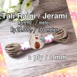 Tali Rami / Tali Goni 2 ply 2mm Tali Jerami serbaguna permeter
