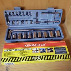 kunci sock set KENMASTER 27 pcs kunci sok set socket set kunci shock