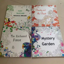 Buku mewarnai dewasa - penghilang stress - grown up drawing book