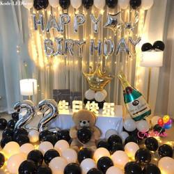 Set paket balon Lampu LED dekorasi birthday ulang tahun fancy romantis