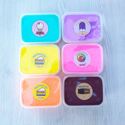 Slime BerSNI/Slime Tofu Orange 200cc/Slime Jiggly/Slime Original