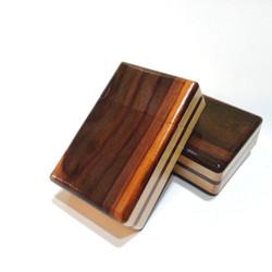 Kotak Kayu Kombinasi Gift Box Motif Kayu Natural Wadah Timbaqo Padudan - varian 03