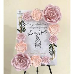 Papan bunga kertas 50x70cm karangan bunga Jakarta (paper flower board)