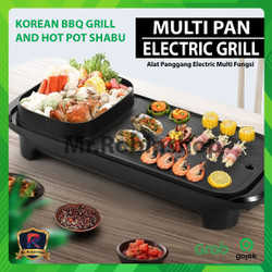 BBQ Electric listrik Grill Multifunctional One Pot F-607