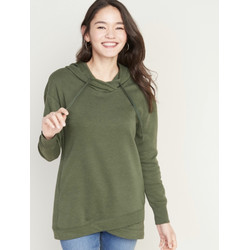 Sweater Old Navy French Terry Pullover Tunic Hoodie Olive Original