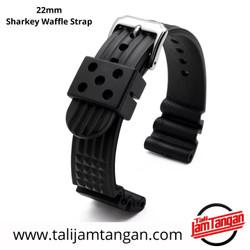 22mm Sharkey Waffle Rubber Strap Tali Jam Tangan Karet Seiko