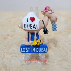 Magnet Tempelan Kulkas Souvenir I Love Dubai