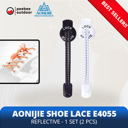 AONIJIE E4055 Sport Reflective Shoelace Tali Sepatu ORIGINAL TERMURAH - Hitam