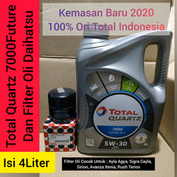 Paket Oli Mobil Total 5w-30 4L + Filter oli Daihatsu