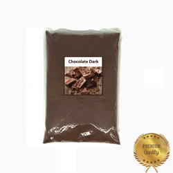 Bahan Minuman Bubuk Chocolate Dark Bubble Tea Drink Powder Bagus