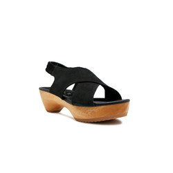 CLOGS Edelweiss - Black Nb 4cm