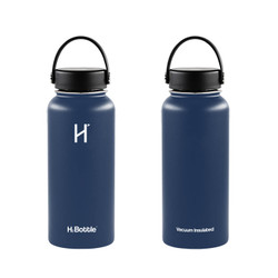 H2 Bottle Vacuum Insulated Water Bottle 1 Liter - Indigo Blue