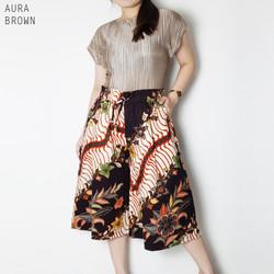 Aura Cullote - Celana Batik Wanita Kulot Wanita - Brown