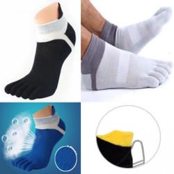 Kaos kaki lari 5 jari dry sport unisex five toe socks for running - Hitam