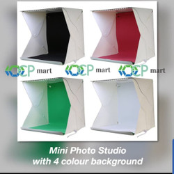 Mini Photo Studio Box Portable Lampu LED foto produk kotak lipat