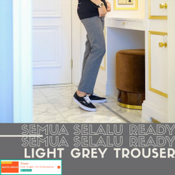 Celana bahan formal casual pria / trouser (light grey)