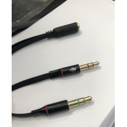 Converter audio HP to PC splitter 3.5mm 3.5 mm 1 jadi 2 handphone ke