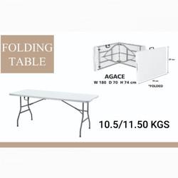 Meja lipat kaki besi 180 cm
