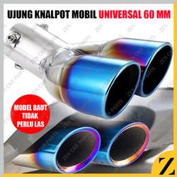 Tailpipe 2 Lobang Muffler Cutter Extention Extension Ujung Knalpot Tip