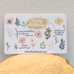 0.1g Happy Birthday Flower Pink Emas Mini Gift Series by KE