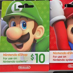 Kartu Fisik Nintendo eShop 10 20 35 50 USD (US) - 10 USD