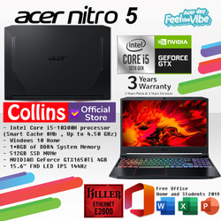 ACER PREDATOR NITRO 5 AN515-55 i5-10300H 8GB 512GB GTX1650Ti 4GB 144Hz