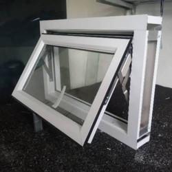 jendela jungkit aluminium - Putih