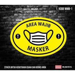 Stiker Sign Wajib Masker WMB