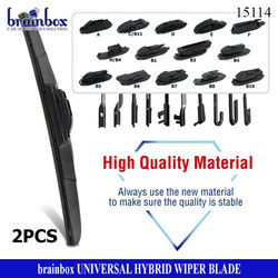 HIGH QUALITY 2 Pcs Hybrid Wiper Blade Universal All Car Model Wiper