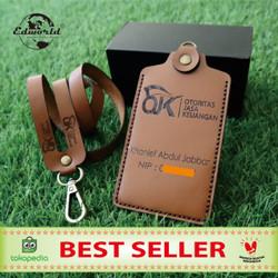 ID CARD HOLDER Dari Kulit Sapi Asli Model 1 Slot Card