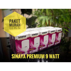 PAKET MURAH !! 10PCS LAMPU LED SINAYA PREMIUM 9WATT