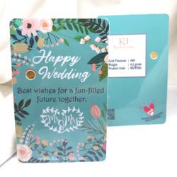 0.1g Happy Wedding Blue Emas Mini Gift Series by KE