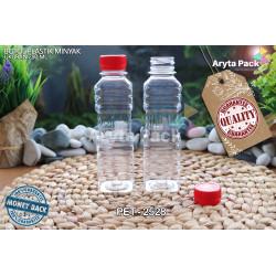 PET2528. Botol plastik pet 250ml minyak goreng tutup LN merah