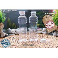PET2526. Botol plastik pet 250ml minyak goreng tutup LN putih