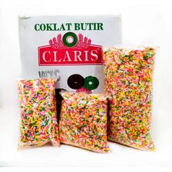 Meses Warna-Warni Claris Repack 1 kg / Coklat Butir Warna Claris 1 kg