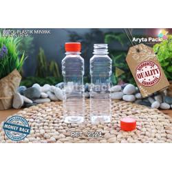 PET2524. Botol plastik pet 250ml minyak goreng tutup LN orange
