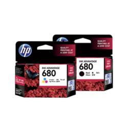 paket tinta hp 680 black dan color printer hp deskjet 2135 3635 promo