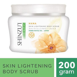 Shinzui Hana Skin Lightening Body Scrub 200 gram