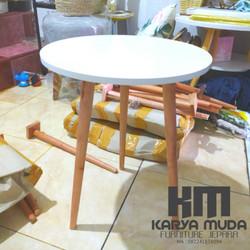 meja kopi minimalis termurah round table for coffe