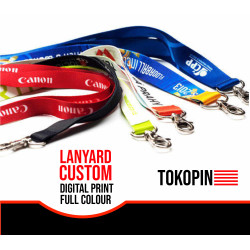 LANYARD CUSTOM DIGITAL PRINT 2 Sisi Tali ID CARD