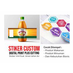 Print Sticker Vinyl A3 Potong Bentuk / Sticker Label