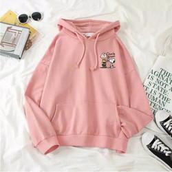 charlie brown Hoodie Sweater/Outerwear Korea Terbaru/Jaket Cewek Lucu