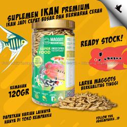 Maggot BSF Nusantara Insecpro FISH Fit 120gr Vitamin Ikan Suplemen
