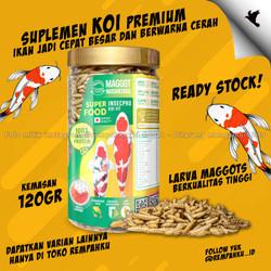 Maggot BSF Nusantara Insecpro KOI Fit 120gr Vitamin Ikan KOI Suplemen