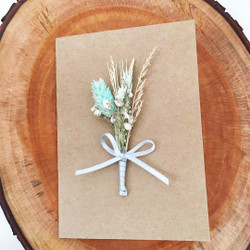 Random Design : Dried Flower Greeting Card | Kartu Ucapan Bunga Kering