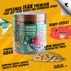 Maggot BSF Nusantara Insecpro FISH Vit 70gr Vitamin Ikan Fish Suplemen