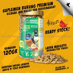Maggot BSF Nusantara Insecpro Bird BIASA 150gr Vitamin Suplemen Burung