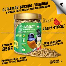 Maggot BSF Nusantara Insecpro Bird BIASA 85gr Vitamin Suplemen Burung