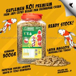 Maggot BSF Nusantara Insecpro Ikan KOI 500gr Vitamin KOI Fish Suplemen