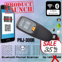 PRJ-300R 1D/2D Pocket Portable Barcode Scanner Black USB+Bluetooh+2.4G